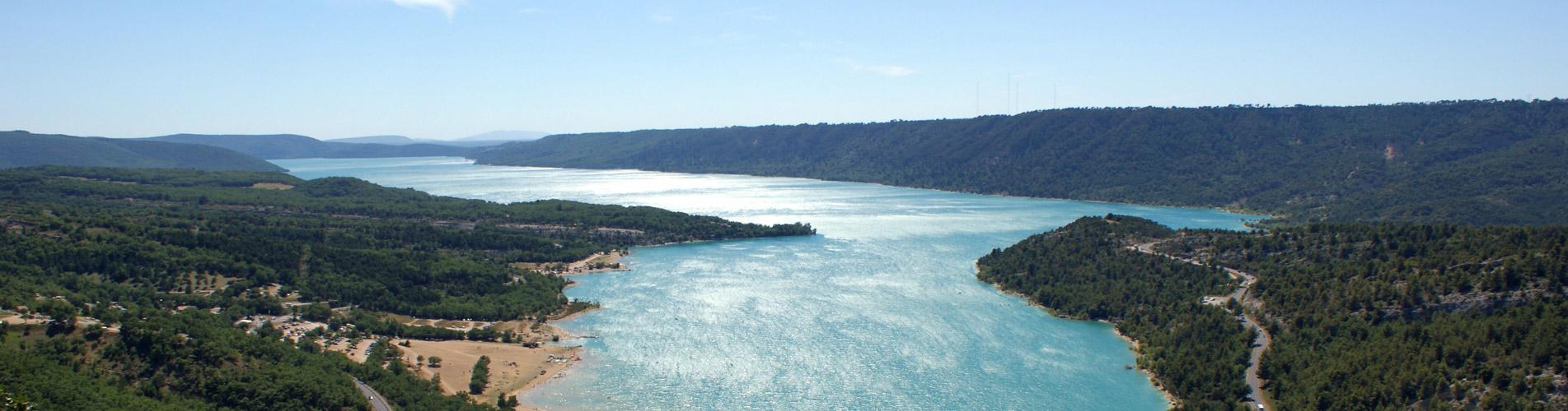 Campsite lac de sainte croix pitch on the shores of lac - Location gorge du verdon avec piscine ...